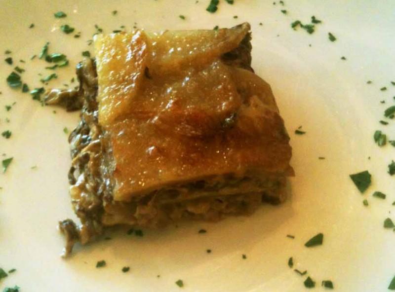 Lasagne al tonno e radicchio